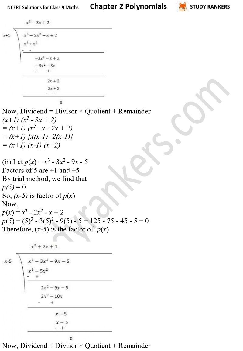 NCERT Solutions for Class 9 Maths Chapter 2 Polynomials Part 16