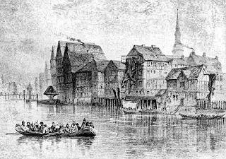 Hamburg Before the Fire; Auguste Etinne Francois Mayer