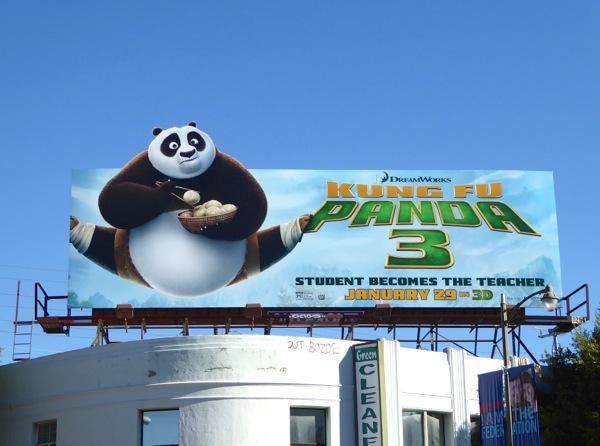 Kung Fu Panda 3 special extension billboard