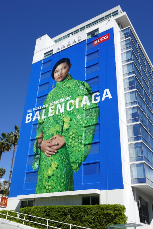 Giant Balenciaga vote for tomorrow Spring 2020 billboard