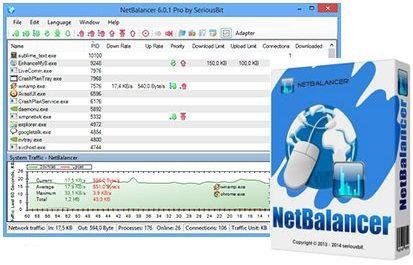 كيف تقطع و تتحكم في سرعة الانترنت لاي برنامج او متصفح NetBalancer 10.1.1