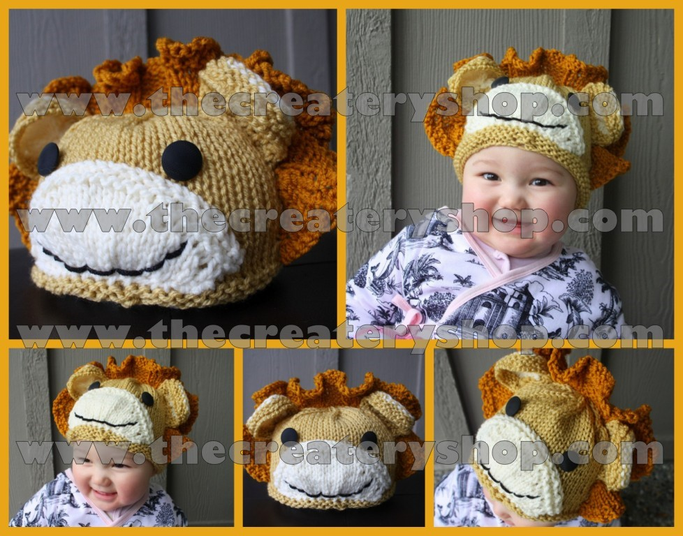 d75832a12ff The Createry Shop  Cute Baby Animal Lion Hat