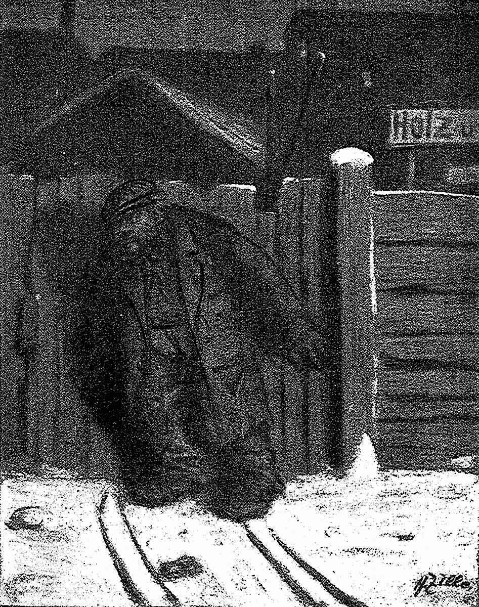 Heinrich Zille, a brutish man at night