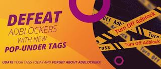 Anuncios popunder anti-Adblock de Adcash