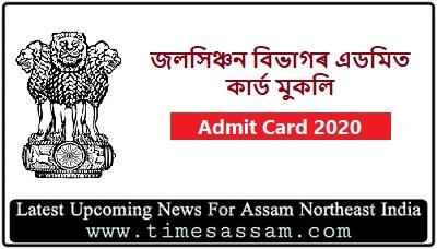 Irrigation Assam  Admit Card