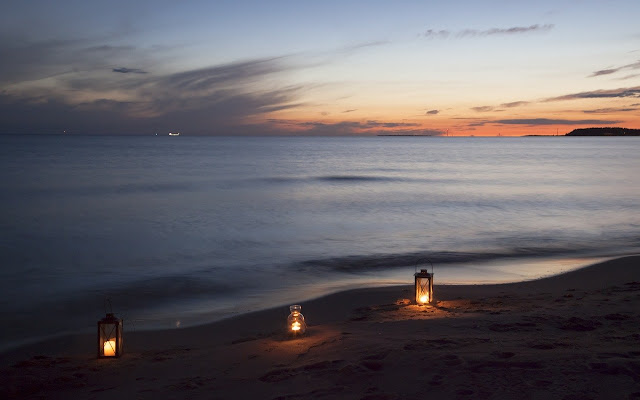 Gambar Pemandangan Pantai Malam Hari Sunset Yang Indah HD ...