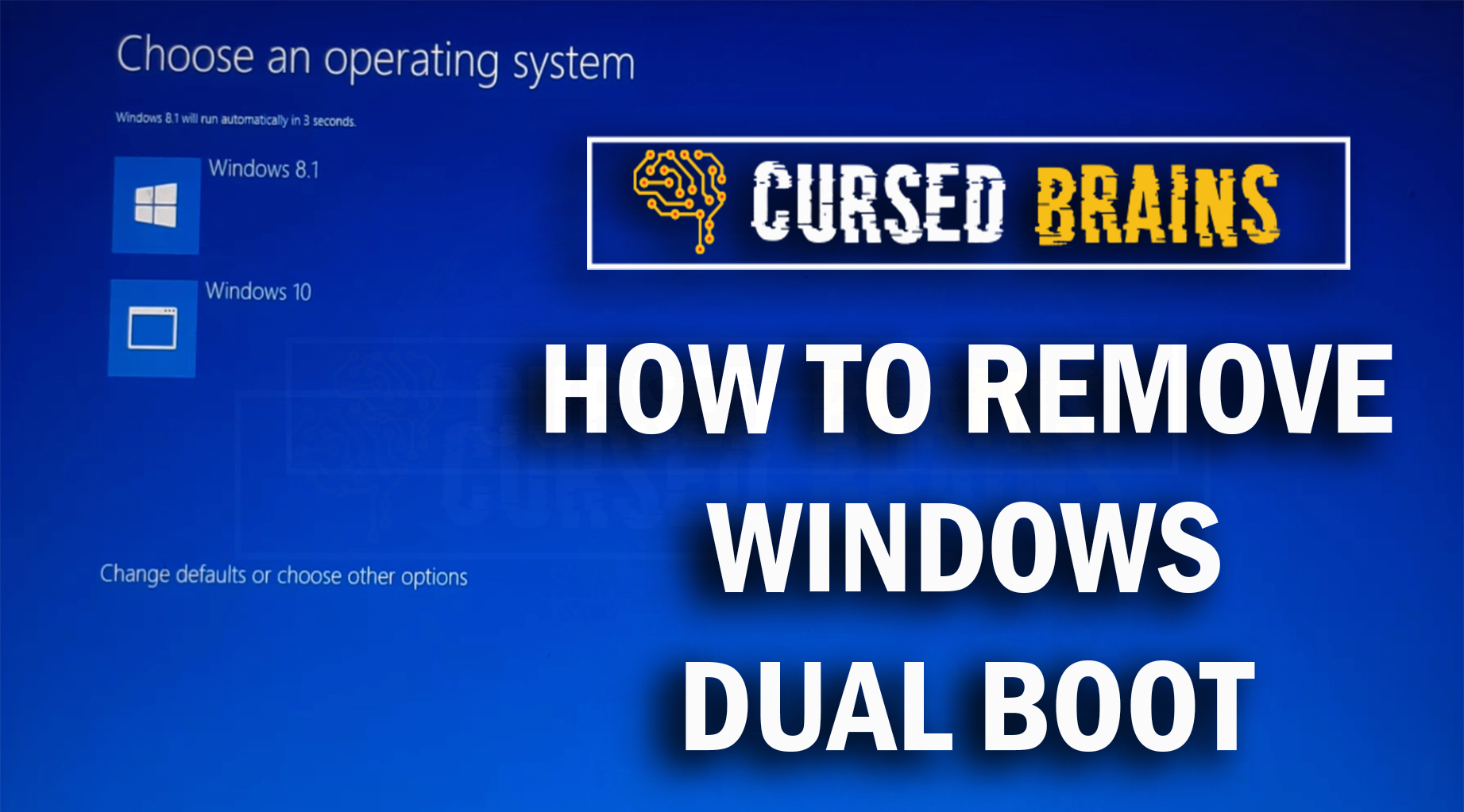How to Delete Dual Boot Operating System | Uninstall/Remove Windows 8.1 | Easy & Quick Way