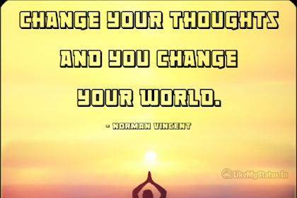Change Your Thoughts... English Life Changing Quote...