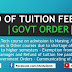 Refund of Tuition Fee Paid for Students Quit B.Tech Course | Government Order