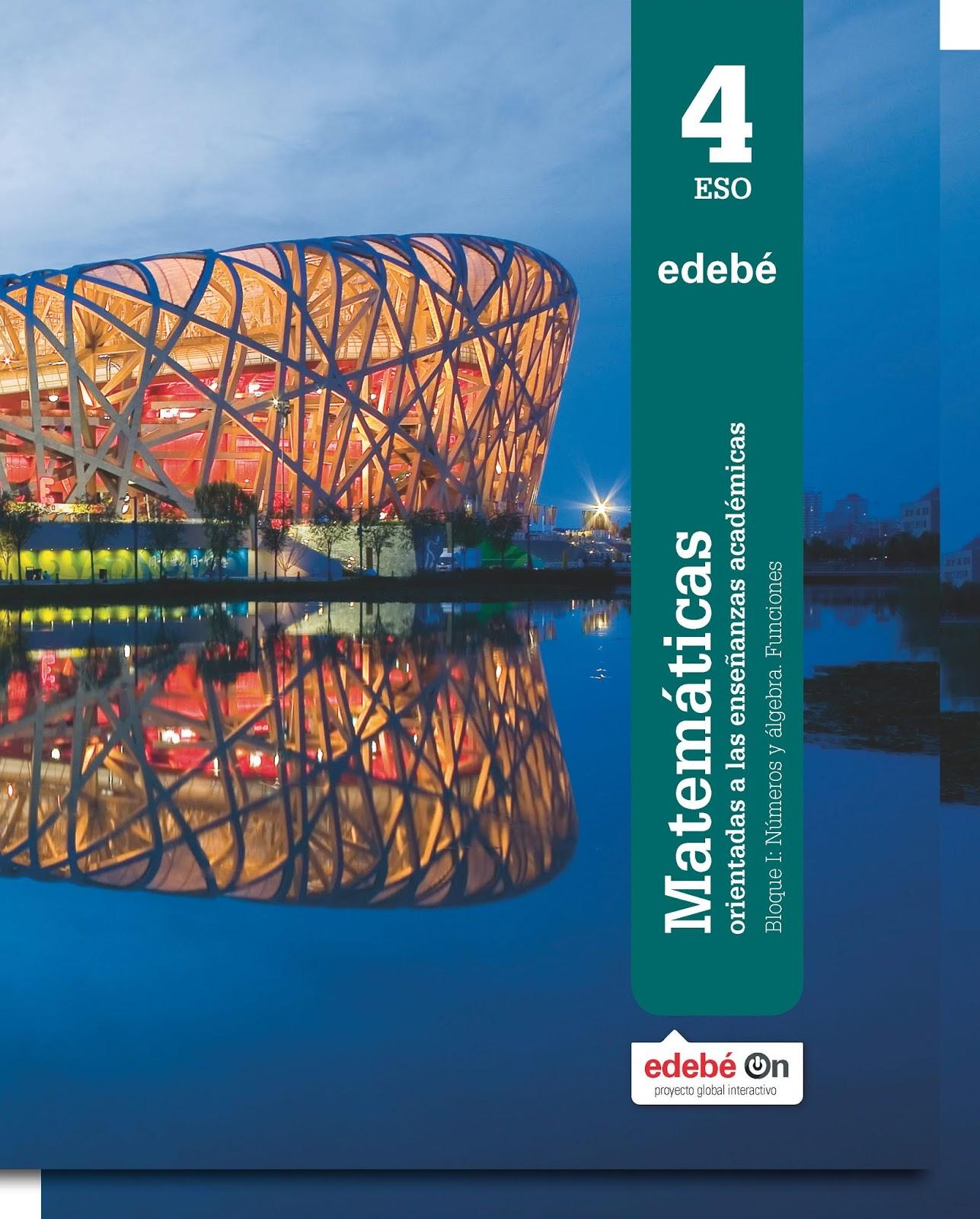 Libro Matemáticas Académicas 4º ESO Edebé Proyecto Edebé On (LOMCE ...