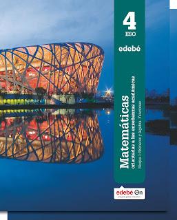 Libro Matemáticas Académicas 4º ESO Edebé Proyecto Edebé On (LOMCE)
