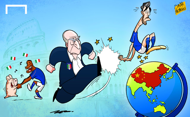 Pelle and Ventura cartoon