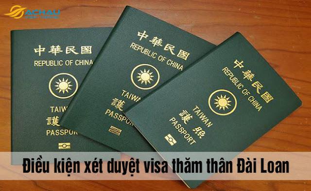 Điều kiện đầy đủ để được cấp visa thăm thân Đài Loan là gì?