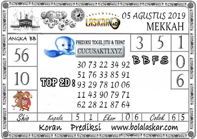 Prediksi Togel MEKKAH LASKAR4D 05 AGUSTUS 2019