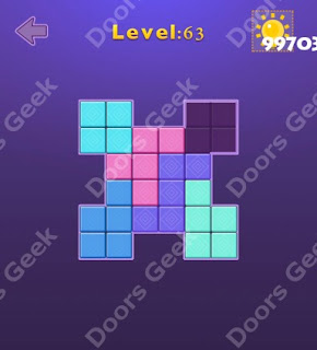 Cheats, Solutions, Walkthrough for Move Blocks Easy Level 63