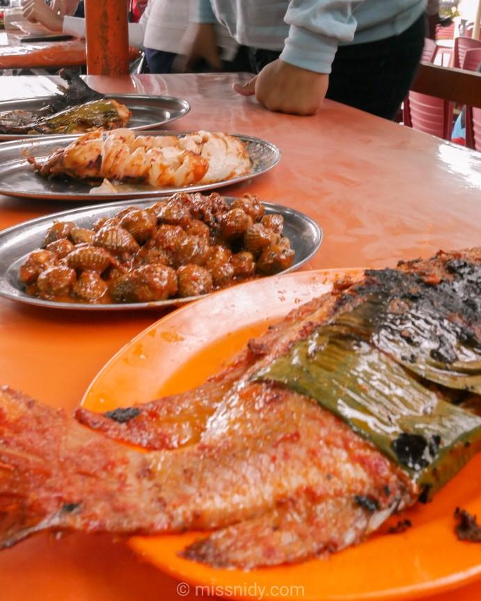 ikan bakar bellamy menu