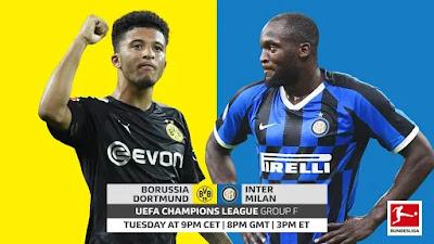 مشاهدة مباراة إنتر ميلان وبوروسيا دورتموند بث مباشر اليوم 05-11-2019 في دوري ابطال اوروبا