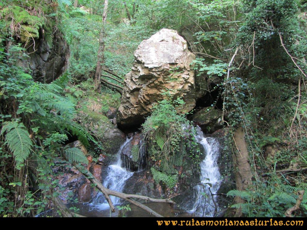 Ruta Cascadas Guanga, Castiello, el Oso: Río
