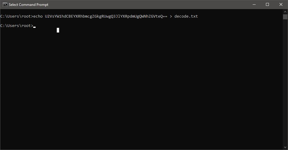 echo U2VsYW1hdCBEYXRhbmcgZGkgRUwgQ3JlYXRpdmUgQWNhZGVteQ== > decode.txt
