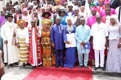 d - Minister Of Transport Chbuike Amaechi And Wife Absent At Rivers state 50th year thanksgiving service