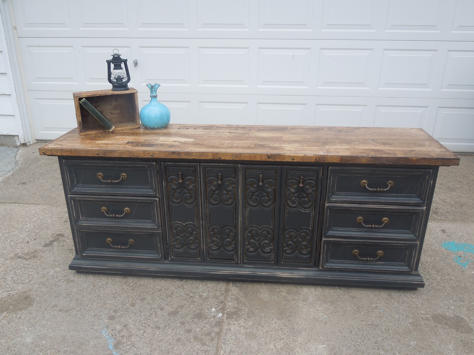 9 drawer black distressed dresser 295 00 sold