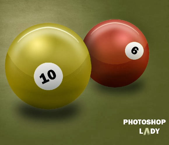 Realistic 3D Snooker Ball in Photoshop