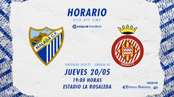 El Málaga ya conoce los horarios para medirse al Oviedo y Girona