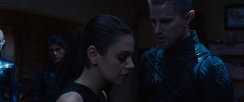 Mila Kunis and Channing Tatum in Jupiter Ascending