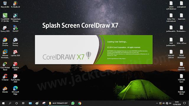 Membuka Aplikasi CorelDraw X7