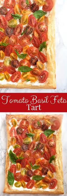Tomato Basil Feta Tart recipe
