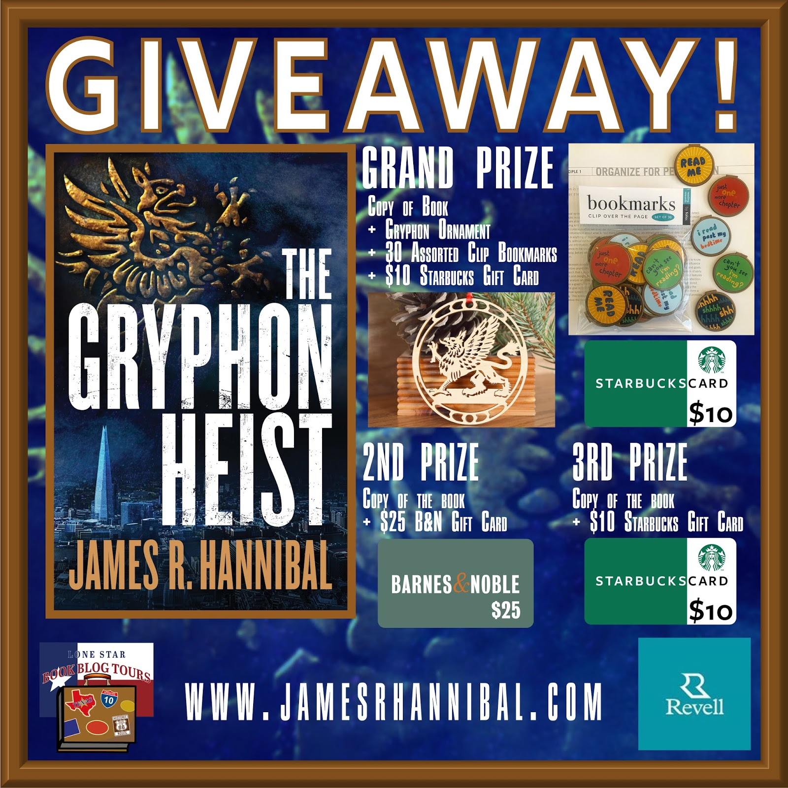 The Gryphon Heist tour giveaway graphic