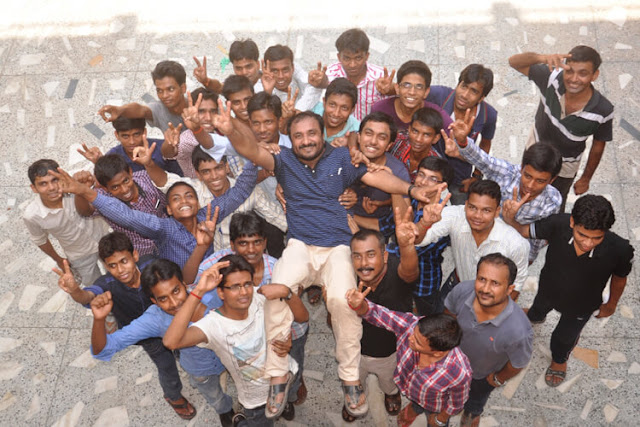 Super 30 Students Celebrating Success with the Founder Anand Kumar