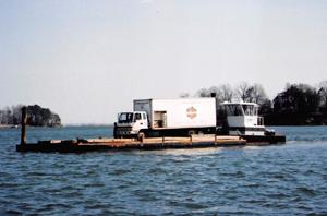 Truck in Ferry