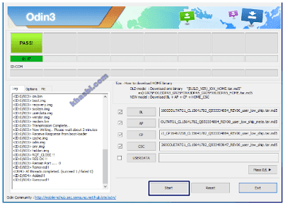 menambahkan file binary samsung a10