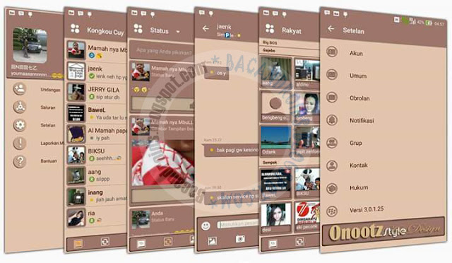 BBM Mod Coklat Keju Onoots Style Apk terbaru Versi 3.0.1.25