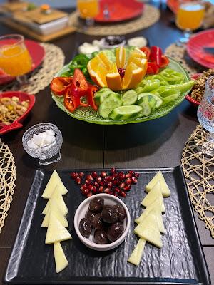 kış temalı kahvaltı sofrası