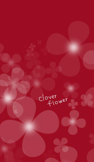 clover flower.wine red version