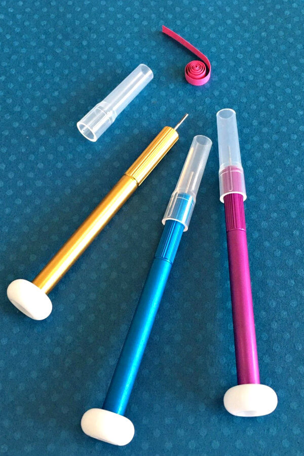 Japanese Super-Fine Slotted Tools in gold, aqua, hot pink