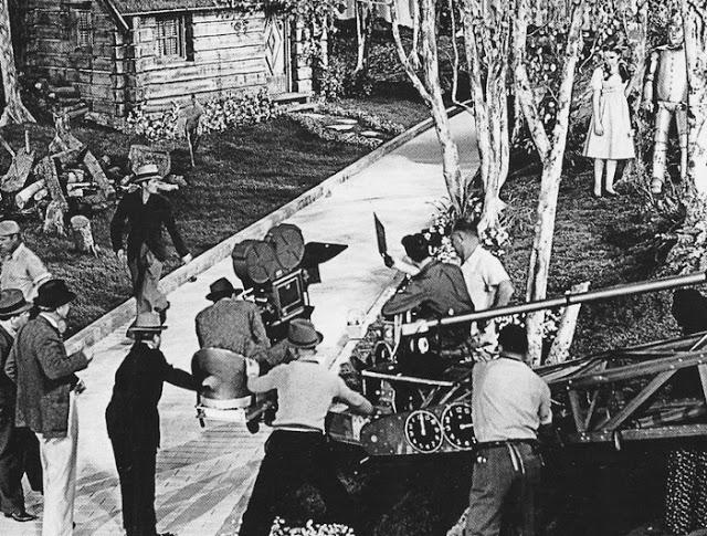 Foto dos bastidores do filme o Magico de Oz, de 1939.