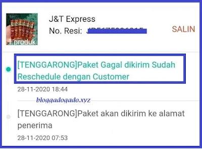 Berapa lama paket akan dikirimkan kembali ke customer ?