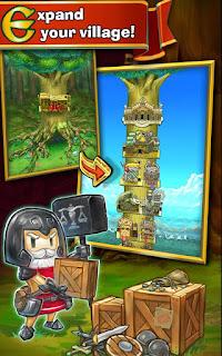 Merupakan sebuah game kombinasi antara game action dan tower builder dari developer ternam Game:  Little Raiders Robin's Revenge apk + obb