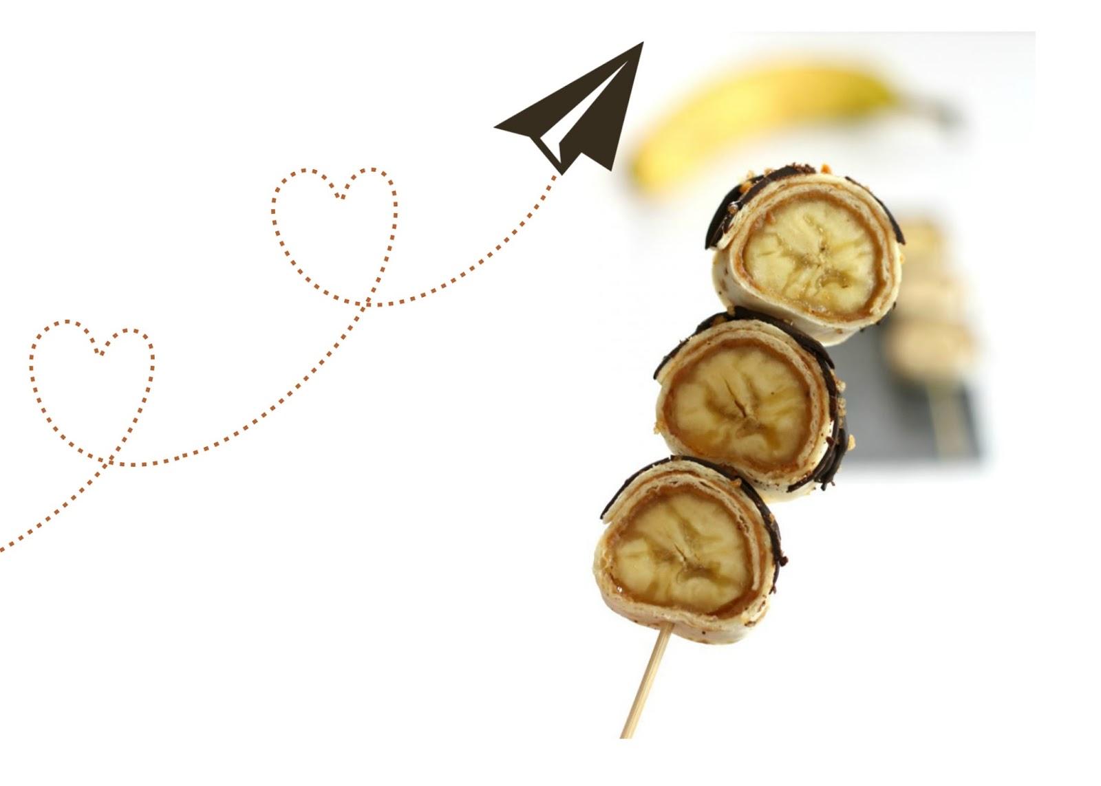 """""""De ZoeteKauw"""" heeft deze heerlijke banaan-pindakaas-chocolade sushi"""