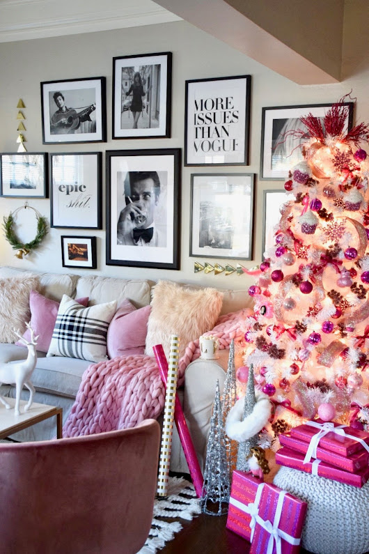 PRETTY IN PINK CHRISTMAS APARTMENT