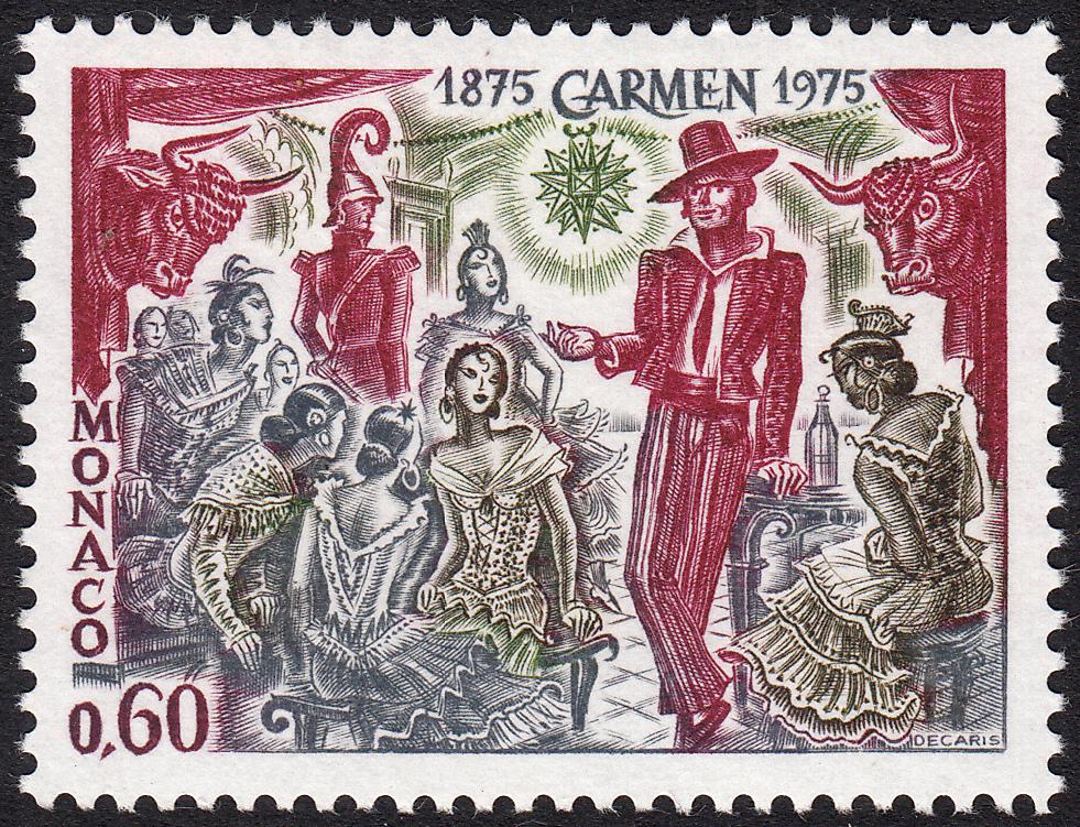 Albert Decaris Stamps Monaco 1975 Carmen Act Ii