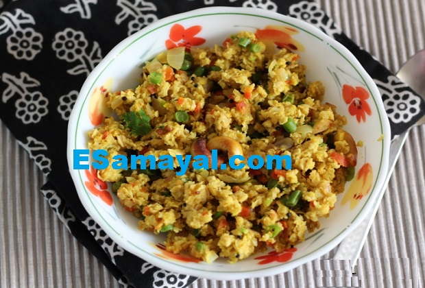 ஓட்ஸ் காலிஃப்ளவர் உப்புமா செய்முறை | Oats Cualiflower Uppuma Recipe !