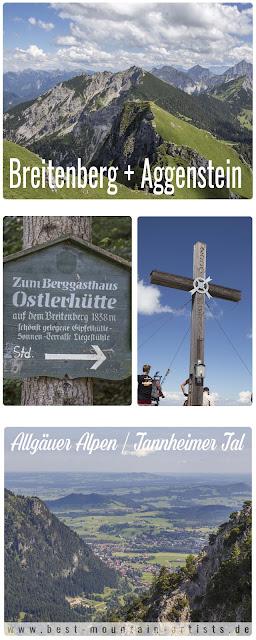 Wanderung Breitenberg – Aggenstein | Allgäuer Alpen | Tannheimer Tal | Tannheimer Berge | Pfronten | Bad Kissinger Hütte | Ostlerhütte | Langer Strich