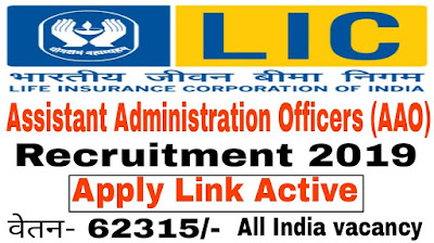 LIC AAO Recruitment 2019
