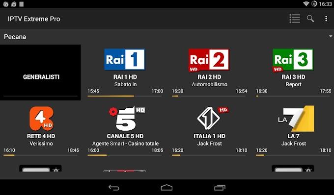 IPTV Extreme Apk | Come Guardare Canali TV Live Da Qualsiasi Provider IPTV o Dalle Liste Trovate Sul Web