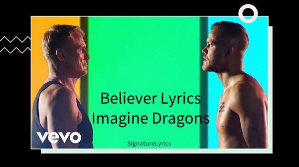 BELIEVER LYRICS - Imagine Dragons - Best Motivational Song Ever