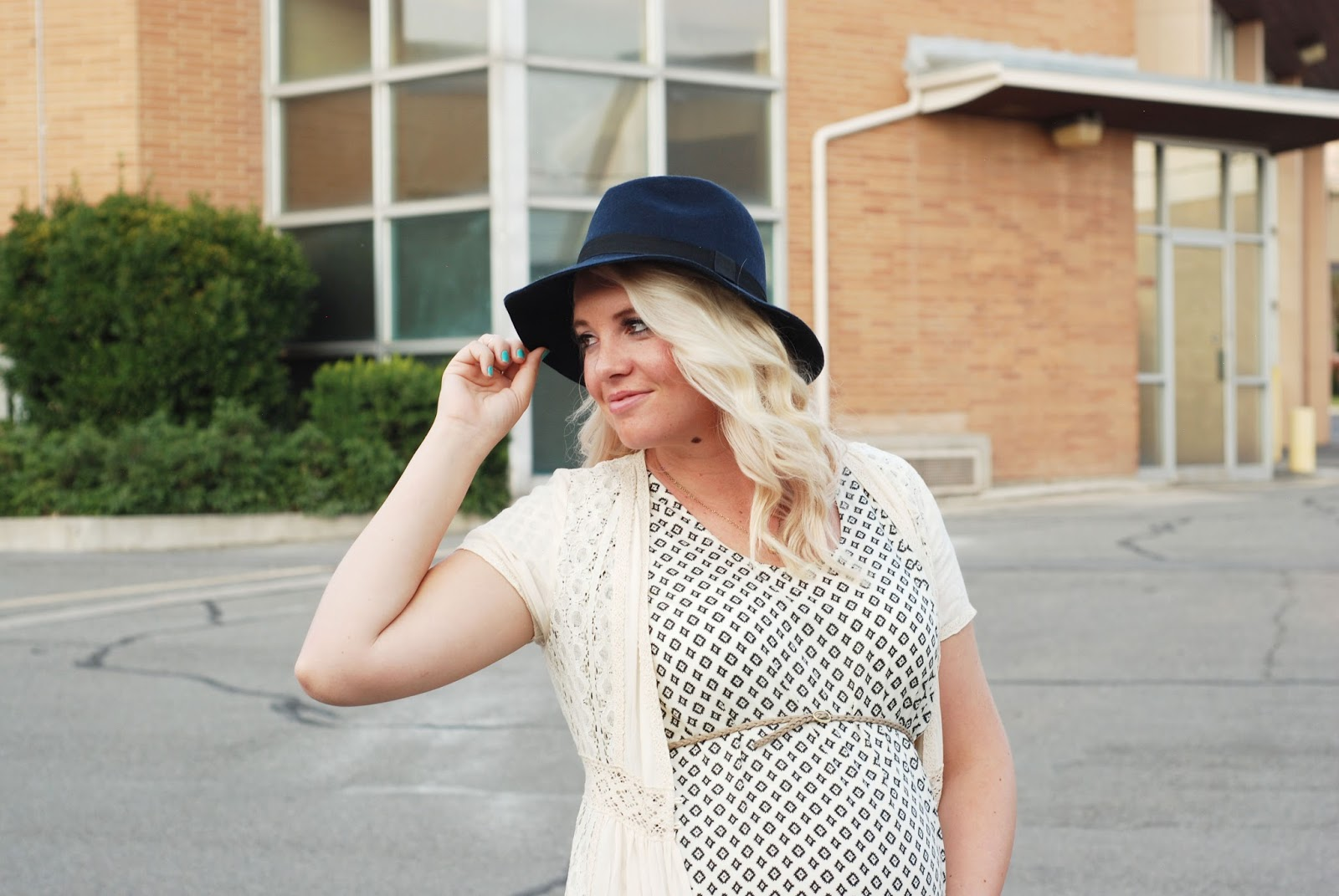 Fall Outfit, Navy Fedora